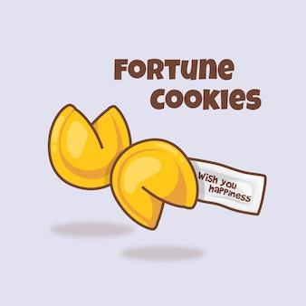 Ilustração de desenho animado cute fortune coolies