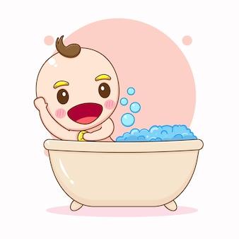 Ilustração de desenho animado de bebê fofo