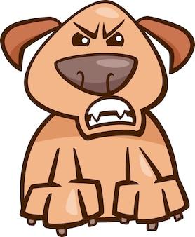 Ilustração de desenho animado de cachorro furioso