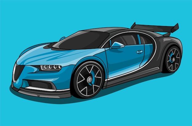 Ilustração de desenho animado de carro esporte
