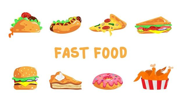 Ilustração de desenho animado de fast food