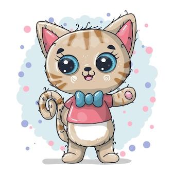 Ilustração de desenho animado de gato bebê fofo