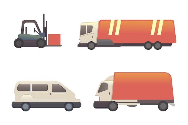 Ilustração de desenho animado de transporte