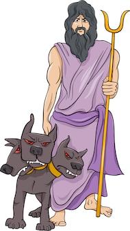 Ilustração de desenho animado do hades de deus grego