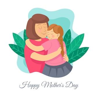 Ilustração de desenho animado feliz dia das mães