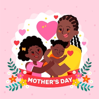 Ilustração de desenho animado para o dia das mães