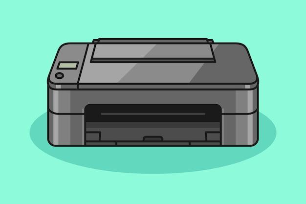 Ilustração de desenho de impressora
