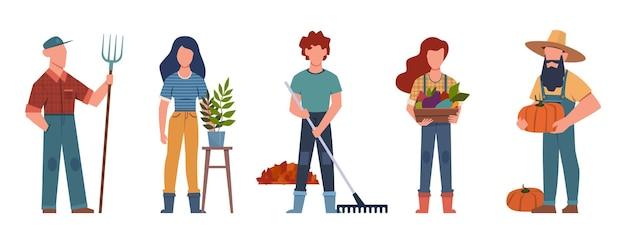 Ilustração de desenho de jardineiro