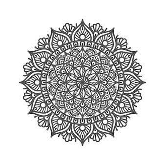 Ilustração de desenho de mandala circular