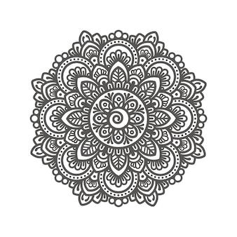 Ilustração de desenho de mandala decorativa