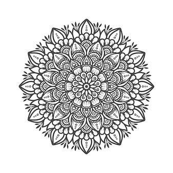 Ilustração de desenho de mandala tradicional