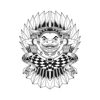 Ilustração de desenho de mão étnica