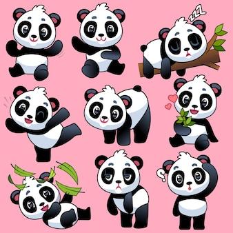 Ilustração de desenho de panda fofo