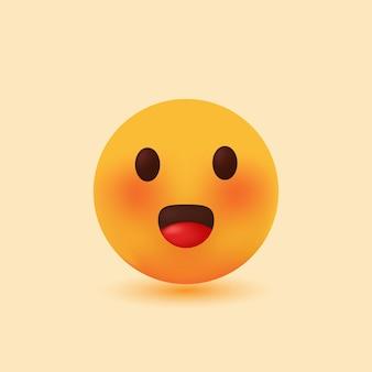Ilustração de desenho em vetor 3d realista sorriso fofo emoji