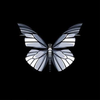 Ilustração de desenho vetorial de borboleta