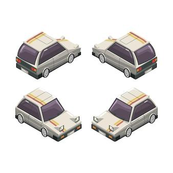 Ilustração de desenho vetorial de carros detalhados