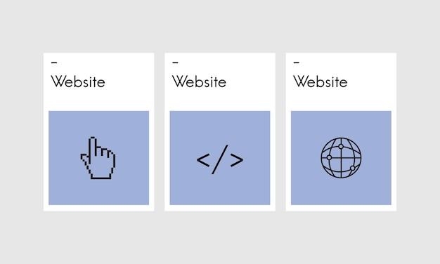 Ilustração, de, desenho web