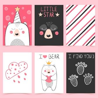 Ilustração de desenhos animados bonitos princesa urso