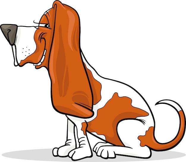 Ilustração de desenhos animados de cão de cão de basset