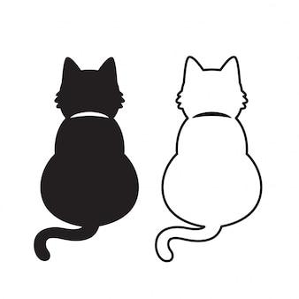 Ilustração de desenhos animados de gatinho gato vector