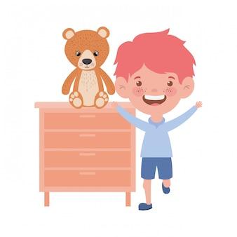 Ilustração de desenhos animados de menino isolado