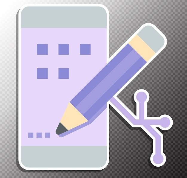 Ilustração de desenvolvimento de aplicativo em estilo simples