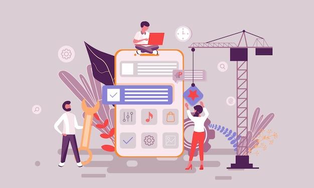 Ilustração de desenvolvimento de aplicativos