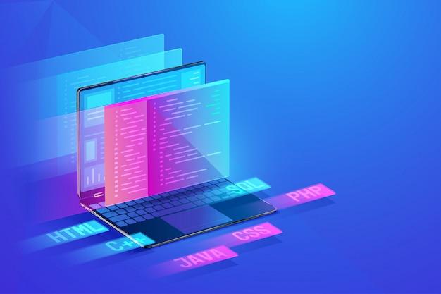 Ilustração de desenvolvimento de software
