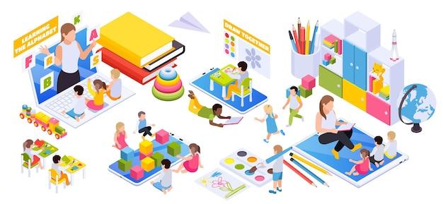 Ilustração de desenvolvimento infantil
