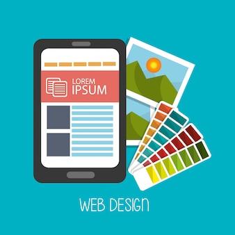 Ilustração de desenvolvimento web