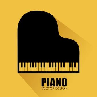 Ilustração de design amarelo de música