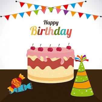 Ilustração de design de aniversário