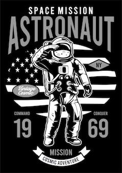 Ilustração de design de astronauta