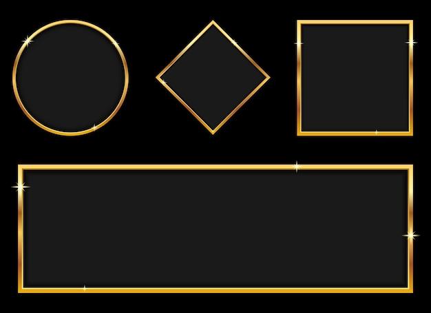 Ilustração de design de bandeira dourada de luxo isolada