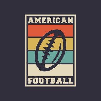 Ilustração de design de camiseta de futebol americano tipografia vintage