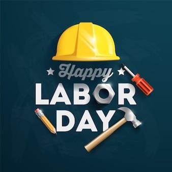 Ilustração de design de cartaz feliz do dia do trabalho