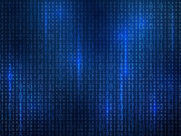 Ilustração de design de código binário