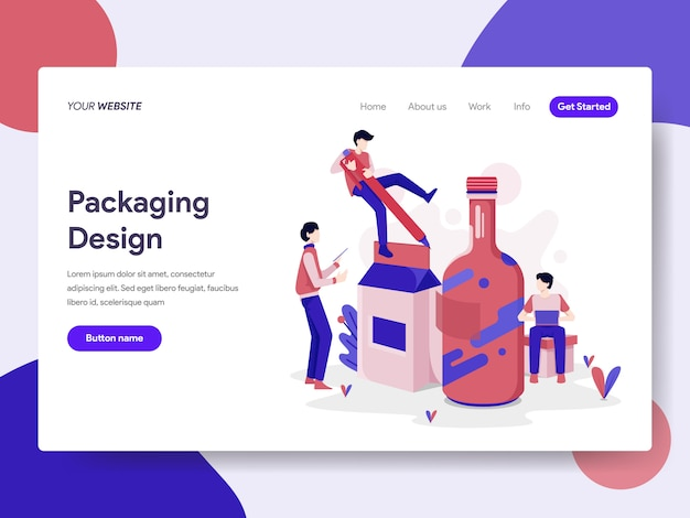 Ilustração de design de embalagem