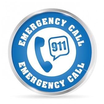 Ilustração de design de emergência