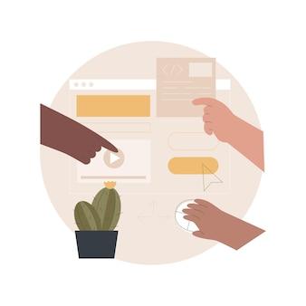 Ilustração de design de experiência