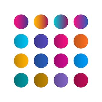 Ilustração de design de gradiente de paletes de cores