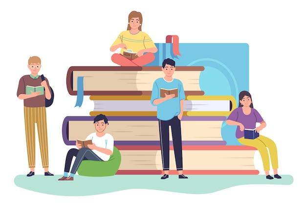 Ilustração de design de leitores