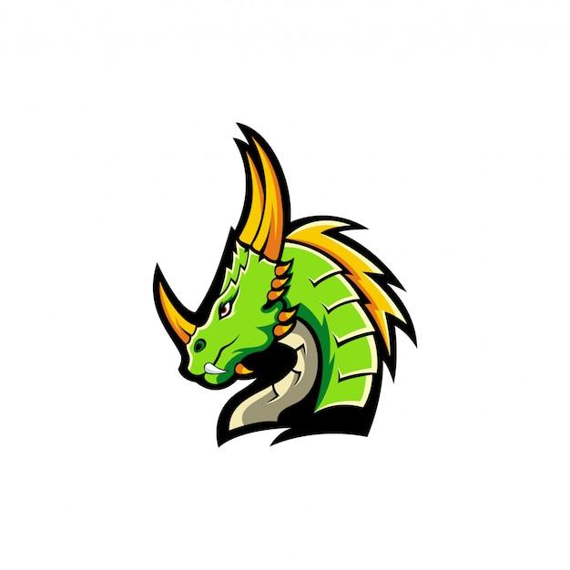 Ilustração de design de logotipo de dragão