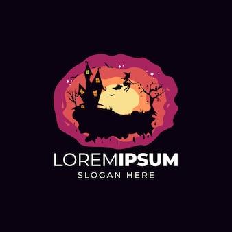 Ilustração de design de logotipo de halloween