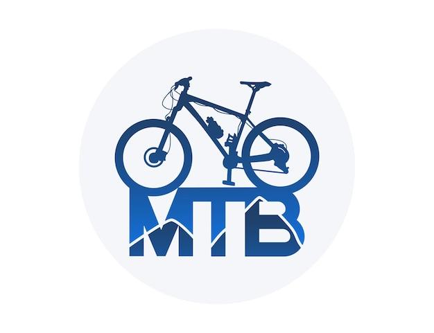 Ilustração de design de logotipo de mountain bike