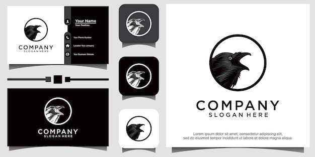 Ilustração de design de logotipo de pássaro animal