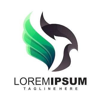 Ilustração de design de logotipo de pássaro