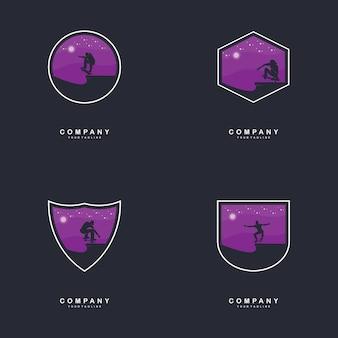 Ilustração de design de logotipo de skate
