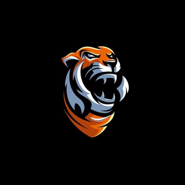 Ilustração de design de logotipo de tigre