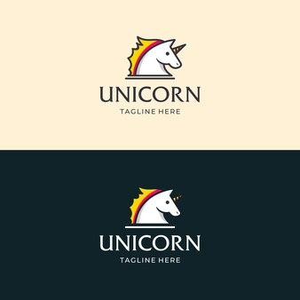 Ilustração de design de logotipo de unicórnio